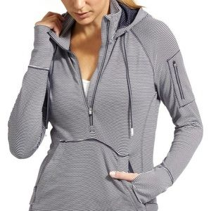 Athleta Heavenly Hail hoodie pullover striped